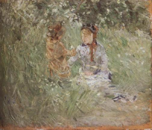 berthe-morisot-mujer-y-su-hija-en-el-parque