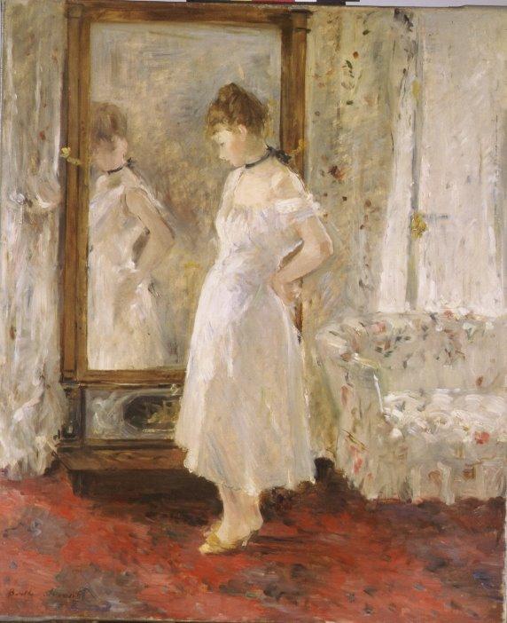 BertheMorisot - El espejo de vestir, 1876