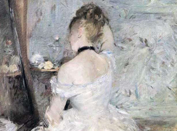 dama frente al espejo-morisot