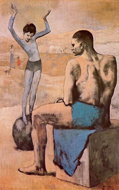 acrbata con balon (muchacha con balon)-picasso 1905