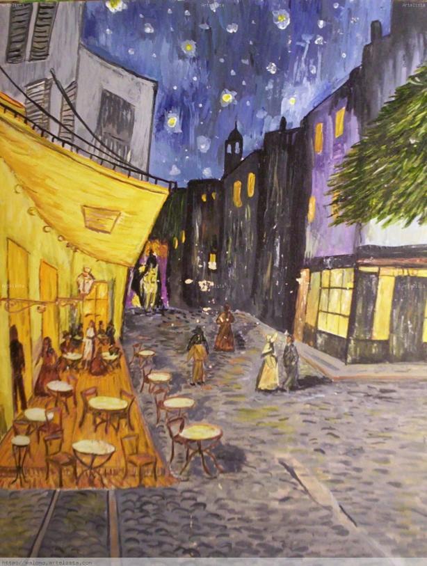 cafe de noche exterior