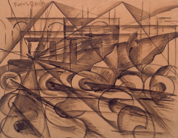 Giacom_Balla_Velocita_d_automobile_1913