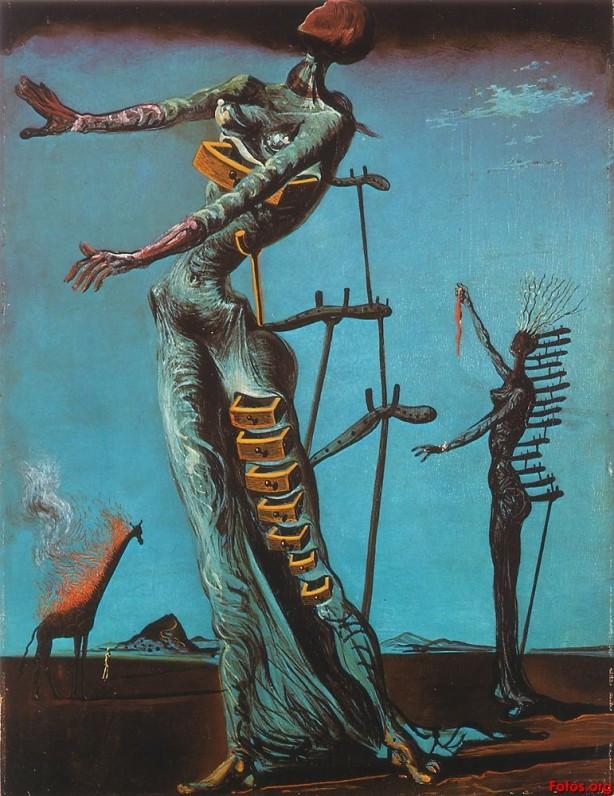 Jirafa ardiendo (1935)