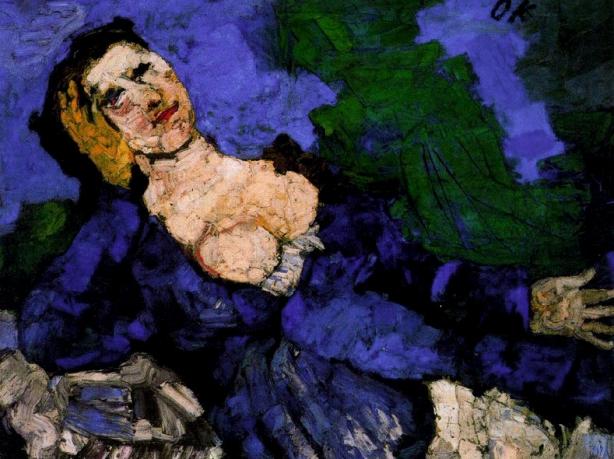kokoschka-mujer-de-azul