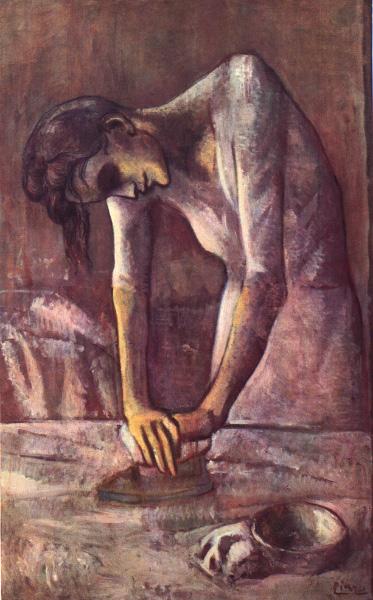 La planchadora por Picasso-1904