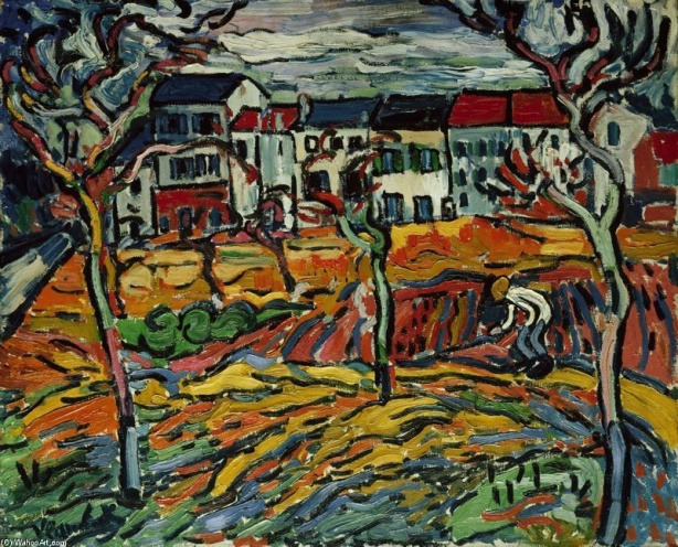 Maurice de Vlaminck - Houses at Chatou