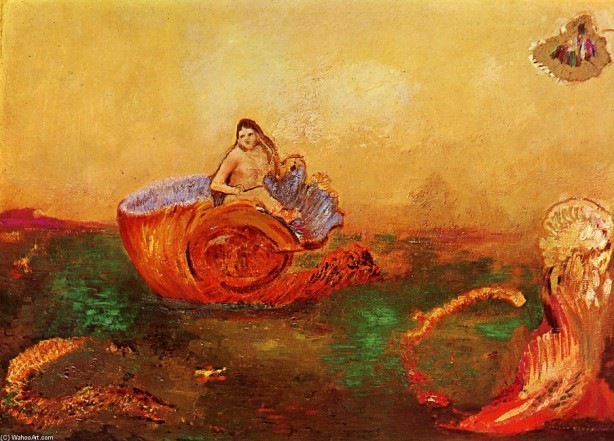 ODILON-REDON-THE-BIRTH-OF-VENUS-