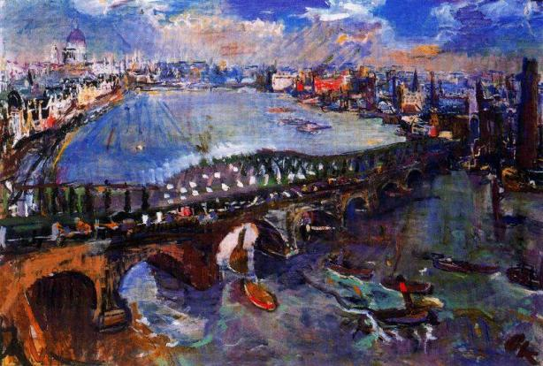 Oskar Kokoschka - London Waterloo Bridge 1926 Wales