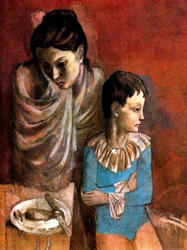 - Picasso - Madre e hijo saltimbamquis 1905