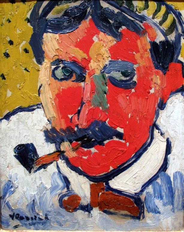 vlaminck retrato de andre derain