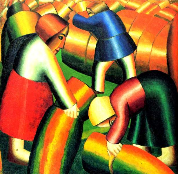 Taking_in_the_Rye_Kazimir_Malevich_1911