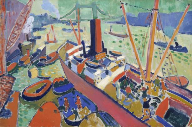 The Pool of London 1906 by André Derain 1880-1954