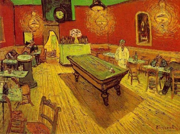 VAN GOGH Cafe de noche interior
