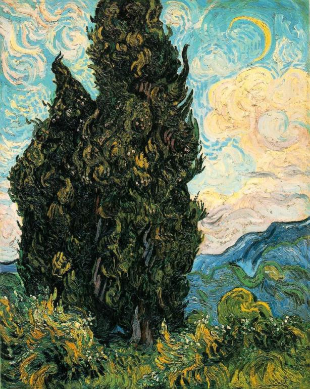 VanGogh-Cypresses