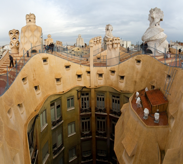 Rooftop of Casa Mila, also known as La Pedrera