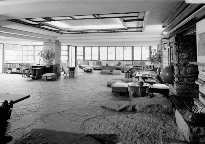 BW-living-room-fallingwater-L