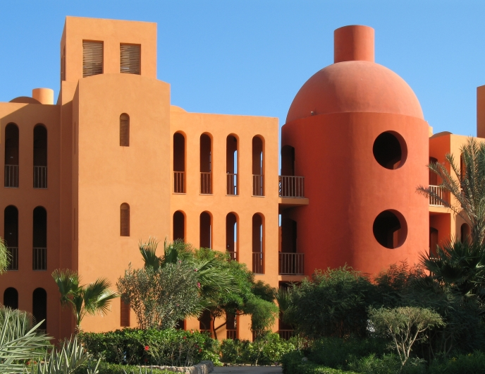 Steigenberger Hotel in El Gouna, Egypt, in association with Ahmed Hamdy, 1997