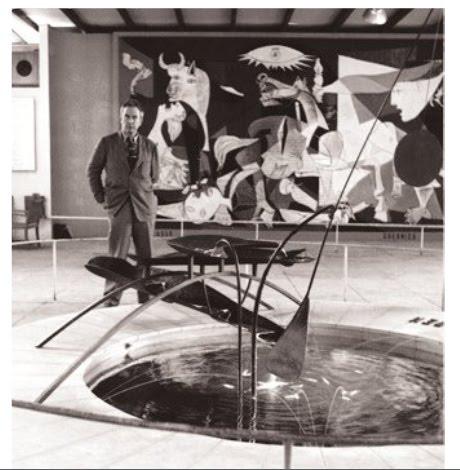 Calder fountain Picasso Guernica