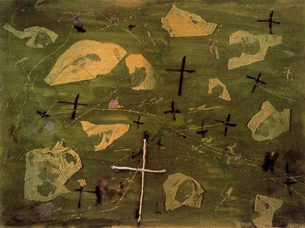 Antonio Tàpies - Collage de las cruces